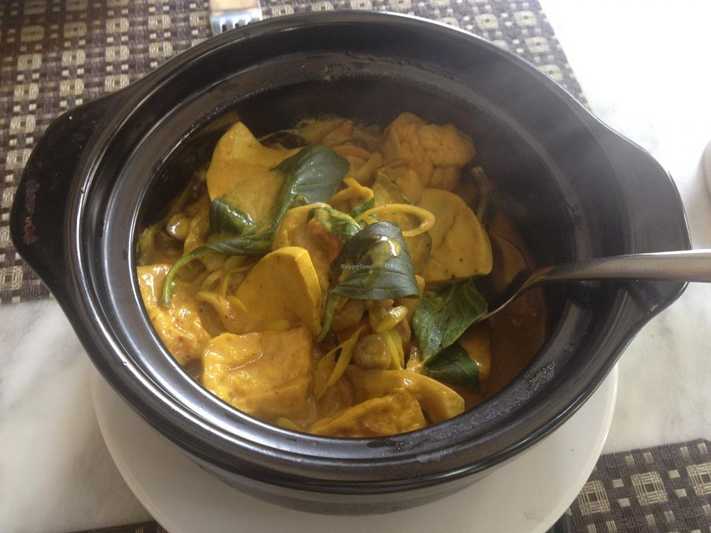"""Photo of CLOSED: Nirvana Tea House and Vegetarian Delights  by <a href=""""/members/profile/Kimxula"""">Kimxula</a> <br/>tofu dish <br/> June 17, 2015  - <a href='/contact/abuse/image/37957/106269'>Report</a>"""