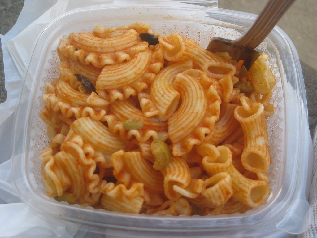 """Photo of Vegetart Cuina Vegana  by <a href=""""/members/profile/jennyc32"""">jennyc32</a> <br/>Pasta salad with olives <br/> August 6, 2016  - <a href='/contact/abuse/image/37959/166274'>Report</a>"""