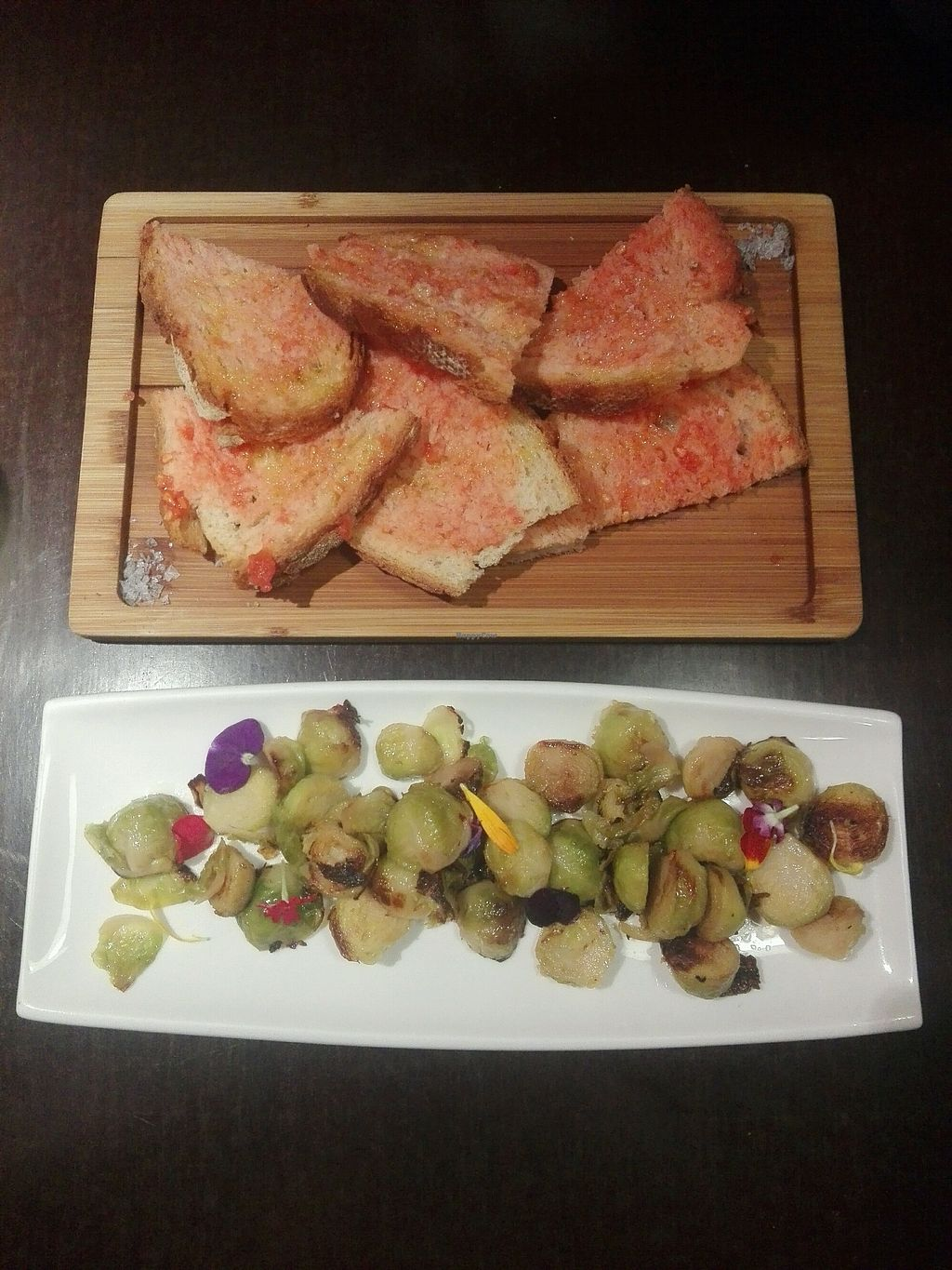 "Photo of Rasoterra Bistrot Vegetaria  by <a href=""/members/profile/Pteri"">Pteri</a> <br/>Seasonal brussel sprouts with home made bread and fresh tomatos <br/> February 13, 2018  - <a href='/contact/abuse/image/37964/358763'>Report</a>"