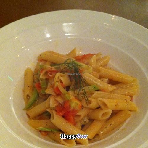 """Photo of Organic Kitchen and Wine  by <a href=""""/members/profile/DaniM"""">DaniM</a> <br/>yummy Pasta <br/> July 5, 2013  - <a href='/contact/abuse/image/37994/50754'>Report</a>"""