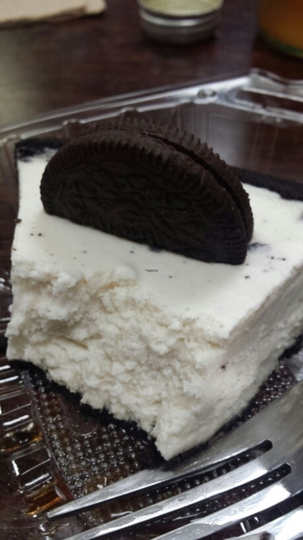 """Photo of Vegan Pizza  by <a href=""""/members/profile/horseleach"""">horseleach</a> <br/>Oreo cheesecake <br/> January 25, 2017  - <a href='/contact/abuse/image/38016/216667'>Report</a>"""