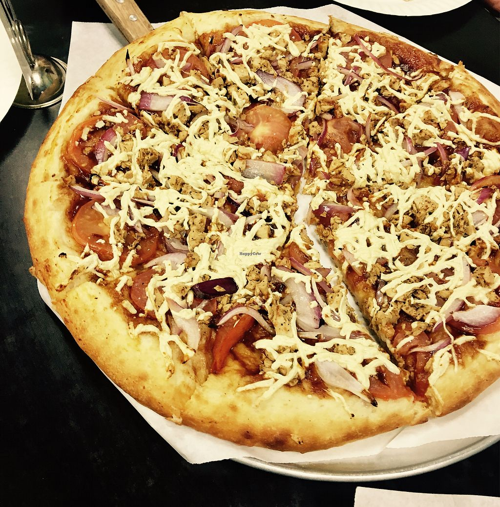 """Photo of Vegan Pizza  by <a href=""""/members/profile/Clean%26Green"""">Clean&Green</a> <br/>BBQ chicken <br/> November 4, 2017  - <a href='/contact/abuse/image/38016/321632'>Report</a>"""