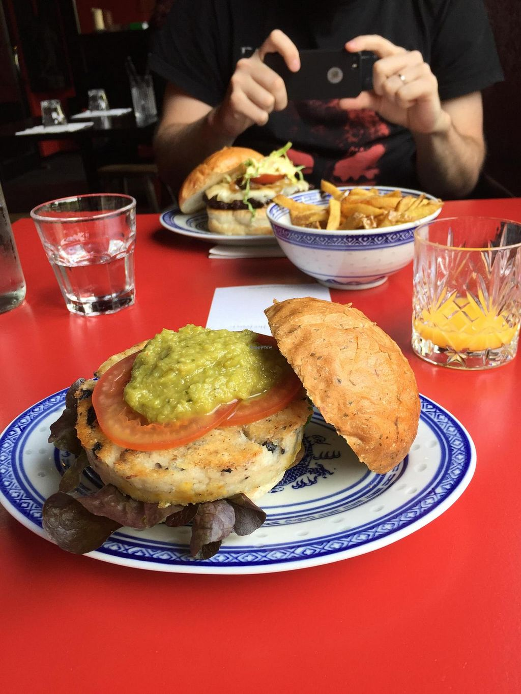 """Photo of Kung Fu Burger  by <a href=""""/members/profile/Paolla"""">Paolla</a> <br/>Huge vegan burger <br/> July 3, 2015  - <a href='/contact/abuse/image/38037/107997'>Report</a>"""