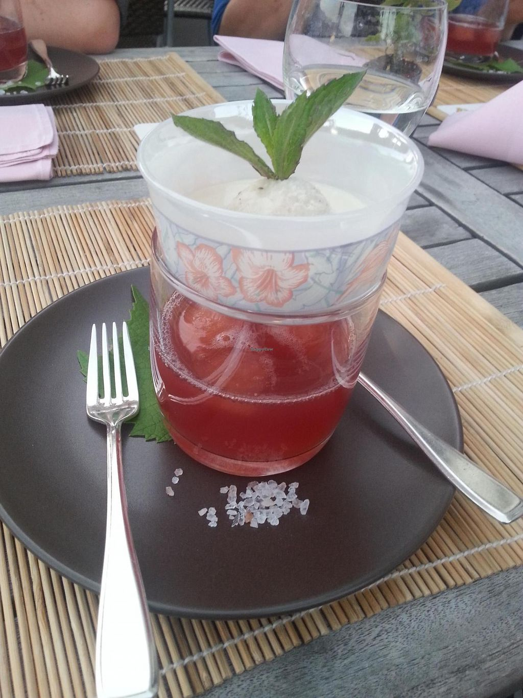 """Photo of Die Weinstube Nachhaltig Geniessen  by <a href=""""/members/profile/coi"""">coi</a> <br/>Rhubarb-Dessert <br/> August 26, 2014  - <a href='/contact/abuse/image/38053/78285'>Report</a>"""