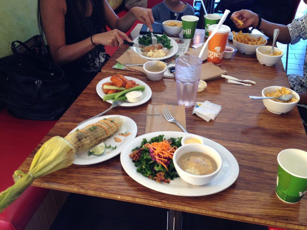 """Photo of Veggie Grill  by <a href=""""/members/profile/Tigra220"""">Tigra220</a> <br/>our table <br/> July 20, 2015  - <a href='/contact/abuse/image/38058/110228'>Report</a>"""