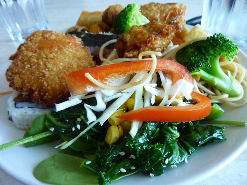 """Photo of Pepper Tree Veggie Cuisine  by <a href=""""/members/profile/MizzB"""">MizzB</a> <br/>Buffet plate <br/> December 13, 2015  - <a href='/contact/abuse/image/3806/128235'>Report</a>"""
