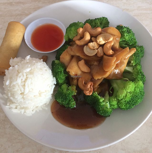 """Photo of Pepper Tree Veggie Cuisine  by <a href=""""/members/profile/TamiLynnAndrew"""">TamiLynnAndrew</a> <br/>Cashew chicken  <br/> June 8, 2017  - <a href='/contact/abuse/image/3806/267158'>Report</a>"""