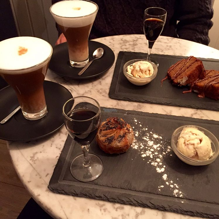 """Photo of Bagel  by <a href=""""/members/profile/Borcher"""">Borcher</a> <br/>Afteenoon treats - latte with almond milk, apple strudle with vanilla ice, spicy banana cake with vanilla ice. TASTY!!  <br/> September 20, 2016  - <a href='/contact/abuse/image/38083/176988'>Report</a>"""