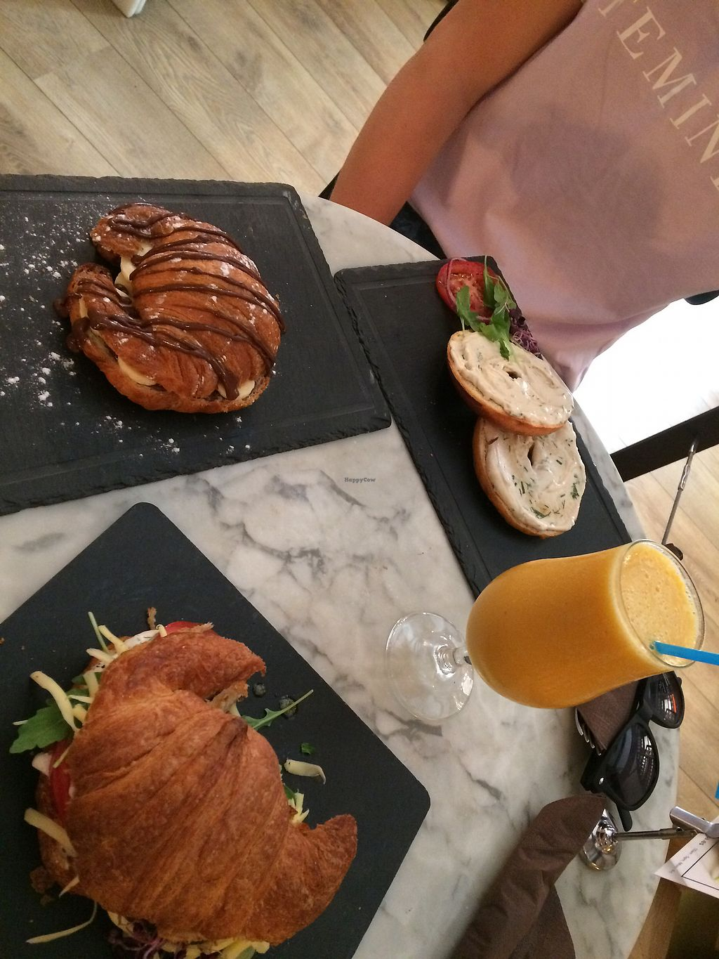 """Photo of Bagel  by <a href=""""/members/profile/holscarlett"""">holscarlett</a> <br/>Our brunch all together (minus one smoothie) <br/> September 8, 2017  - <a href='/contact/abuse/image/38083/302179'>Report</a>"""