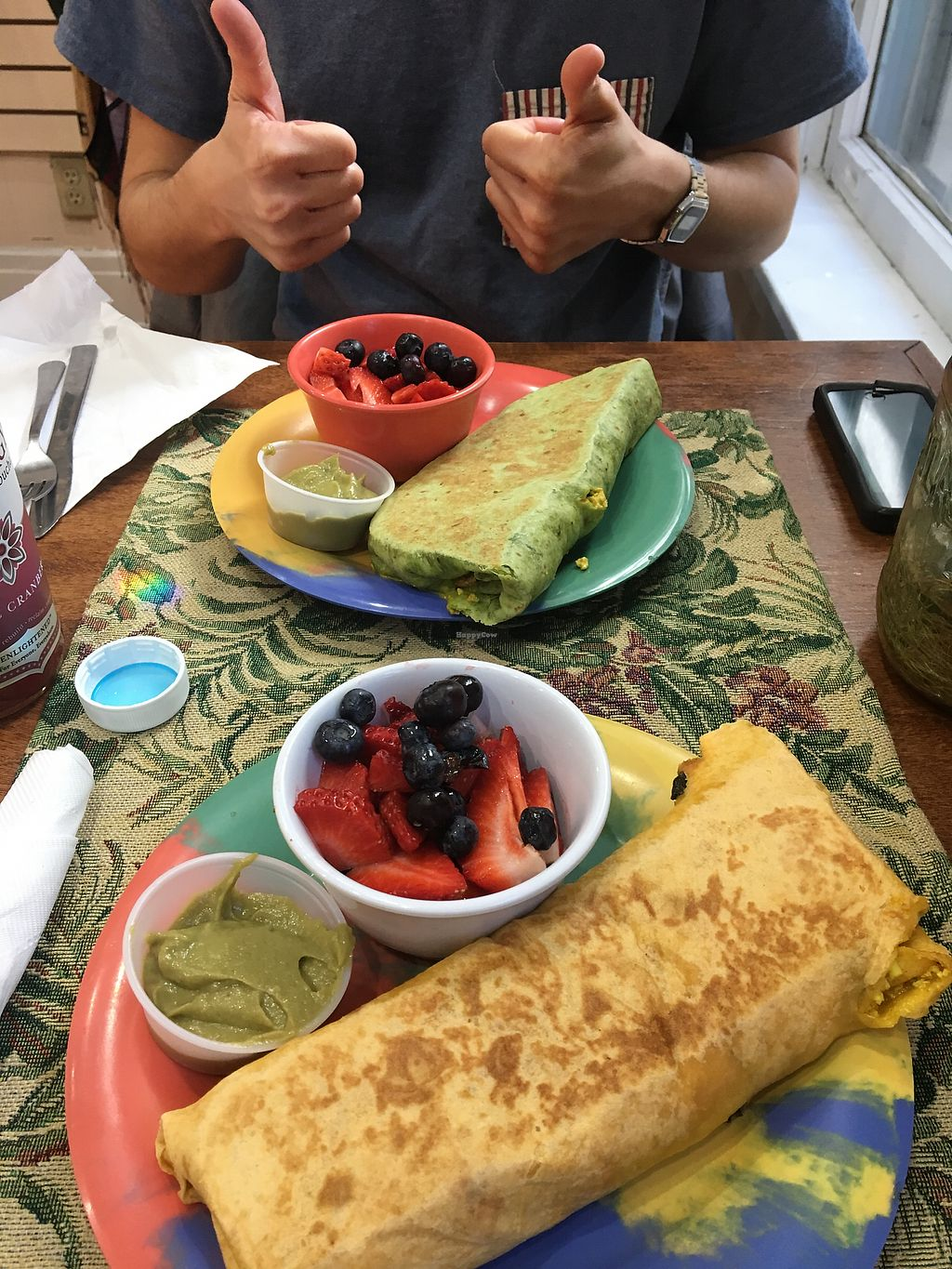 "Photo of Coco Greens  by <a href=""/members/profile/Thepennsyltuckyvegan"">Thepennsyltuckyvegan</a> <br/>Tofu Scramble Burritos <br/> March 13, 2018  - <a href='/contact/abuse/image/38087/370035'>Report</a>"