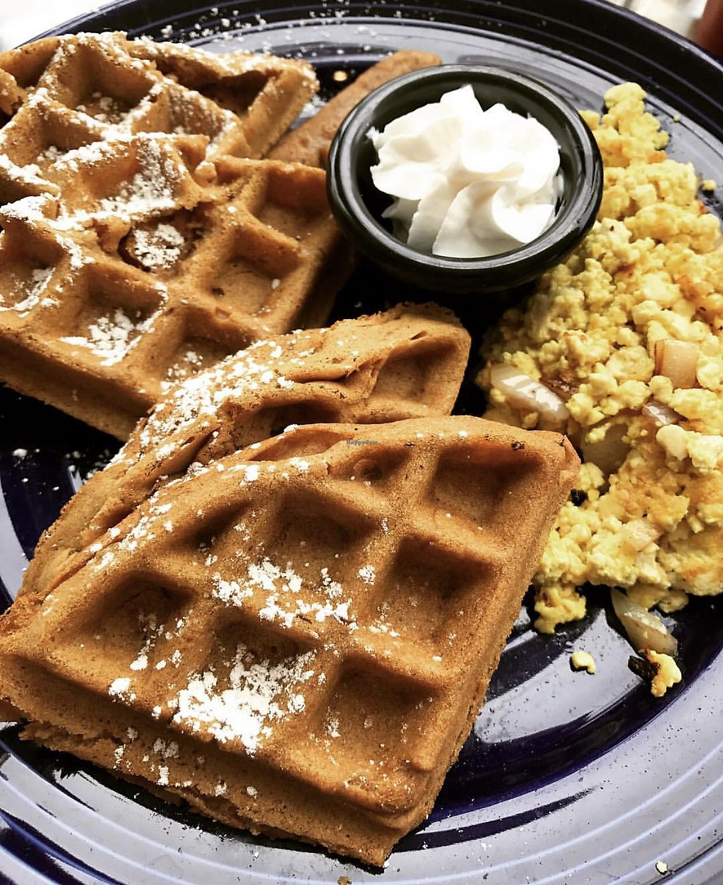 "Photo of The Grain Cafe  by <a href=""/members/profile/SoWo1999"">SoWo1999</a> <br/>Waffles and scrambled tofu <br/> September 25, 2017  - <a href='/contact/abuse/image/38090/308513'>Report</a>"