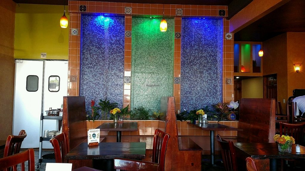 "Photo of The Grain Cafe  by <a href=""/members/profile/Vegbert"">Vegbert</a> <br/>water wall <br/> October 4, 2017  - <a href='/contact/abuse/image/38090/311742'>Report</a>"
