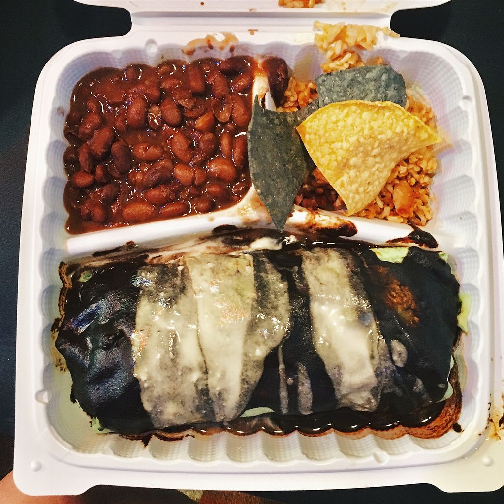 "Photo of The Grain Cafe  by <a href=""/members/profile/TinaCheong"">TinaCheong</a> <br/>Mole burrito with pinto beans <br/> December 14, 2017  - <a href='/contact/abuse/image/38090/335402'>Report</a>"