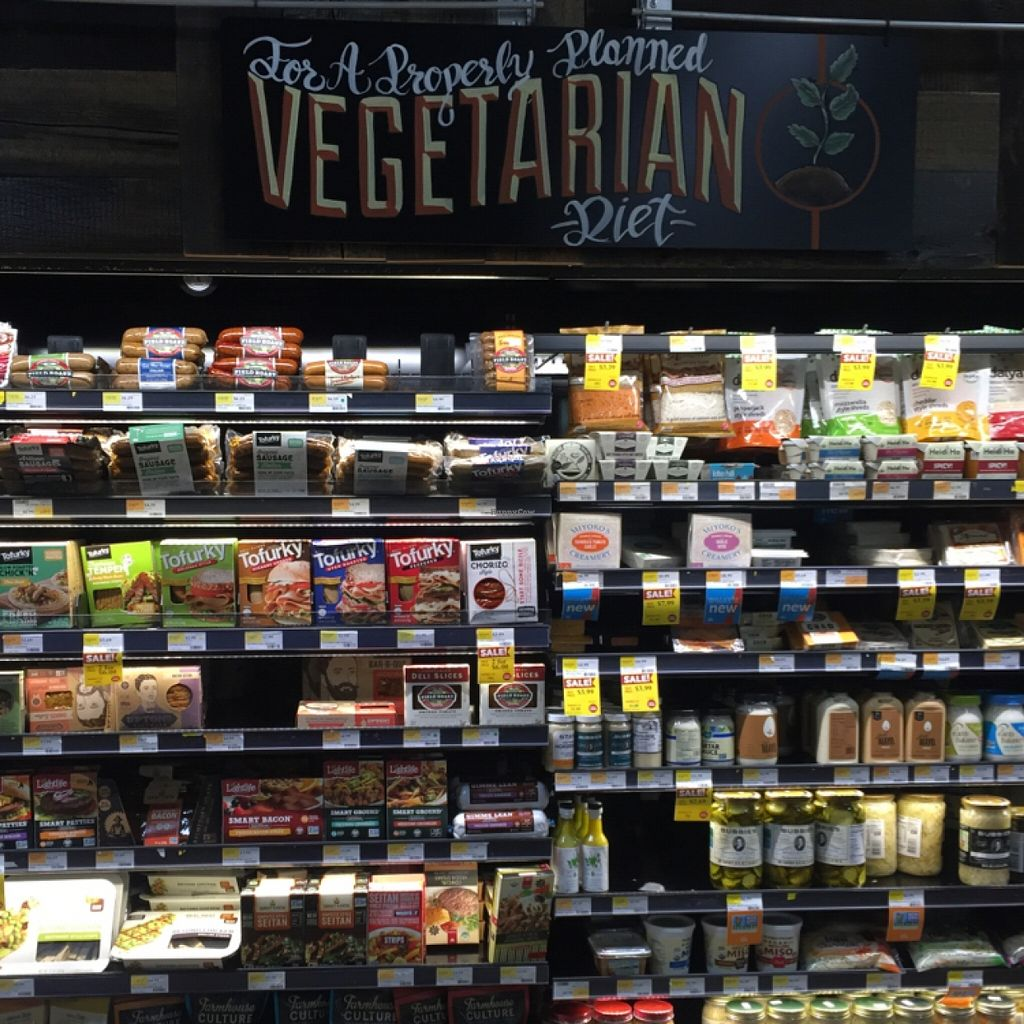 """Photo of Whole Foods Market  by <a href=""""/members/profile/happycowgirl"""">happycowgirl</a> <br/>veggie sausages and vegan cheese <br/> March 17, 2016  - <a href='/contact/abuse/image/38189/140330'>Report</a>"""