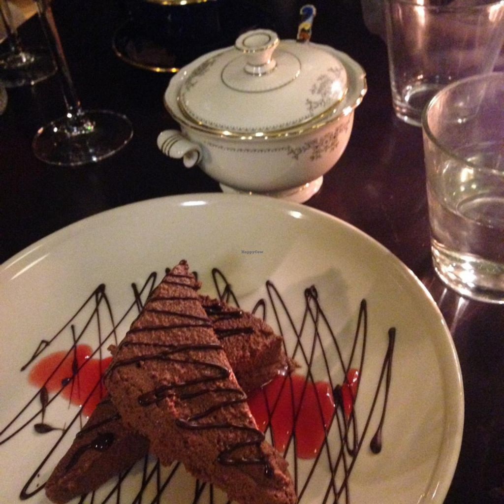 """Photo of Symbiose  by <a href=""""/members/profile/Lizardjones"""">Lizardjones</a> <br/>chocolate mousse with blood orange sauce <br/> March 6, 2015  - <a href='/contact/abuse/image/38212/95087'>Report</a>"""