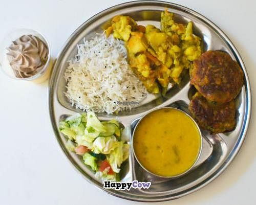 """Photo of CLOSED: Vegetarian Dinner Club  by <a href=""""/members/profile/RangadeviDasi"""">RangadeviDasi</a> <br/>Super tasty pure vegetarian meal :) for only 5 e a little spicy but not too much  <br/> August 14, 2013  - <a href='/contact/abuse/image/38221/53259'>Report</a>"""