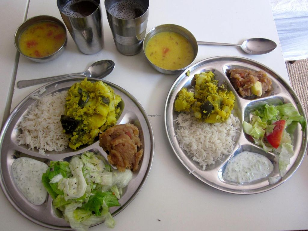"""Photo of CLOSED: Vegetarian Dinner Club  by <a href=""""/members/profile/annette"""">annette</a> <br/> Delicious meal of rice, dahl, vege curry, yogurt raita, salad, drink and dessert. 5 euros <br/> August 21, 2014  - <a href='/contact/abuse/image/38221/77834'>Report</a>"""