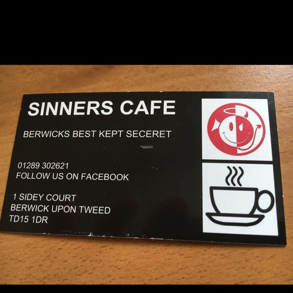 "Photo of Sinners Cafe  by <a href=""/members/profile/hack_man"">hack_man</a> <br/>business card  <br/> August 4, 2016  - <a href='/contact/abuse/image/38242/165334'>Report</a>"