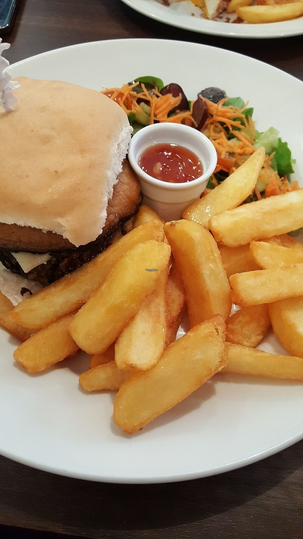 "Photo of Sinners Cafe  by <a href=""/members/profile/jansky7"">jansky7</a> <br/>The ultimate lentil burger with Portobello mushroom and vegan brie  <br/> April 25, 2017  - <a href='/contact/abuse/image/38242/252353'>Report</a>"