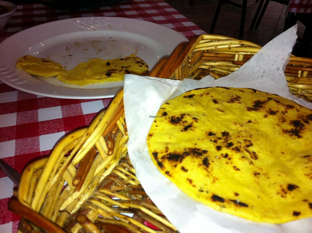 "Photo of Village of India  by <a href=""/members/profile/Little%20Laura"">Little Laura</a> <br/>Corn roti.  Prepared fresh and very good! <br/> October 5, 2014  - <a href='/contact/abuse/image/38259/82207'>Report</a>"