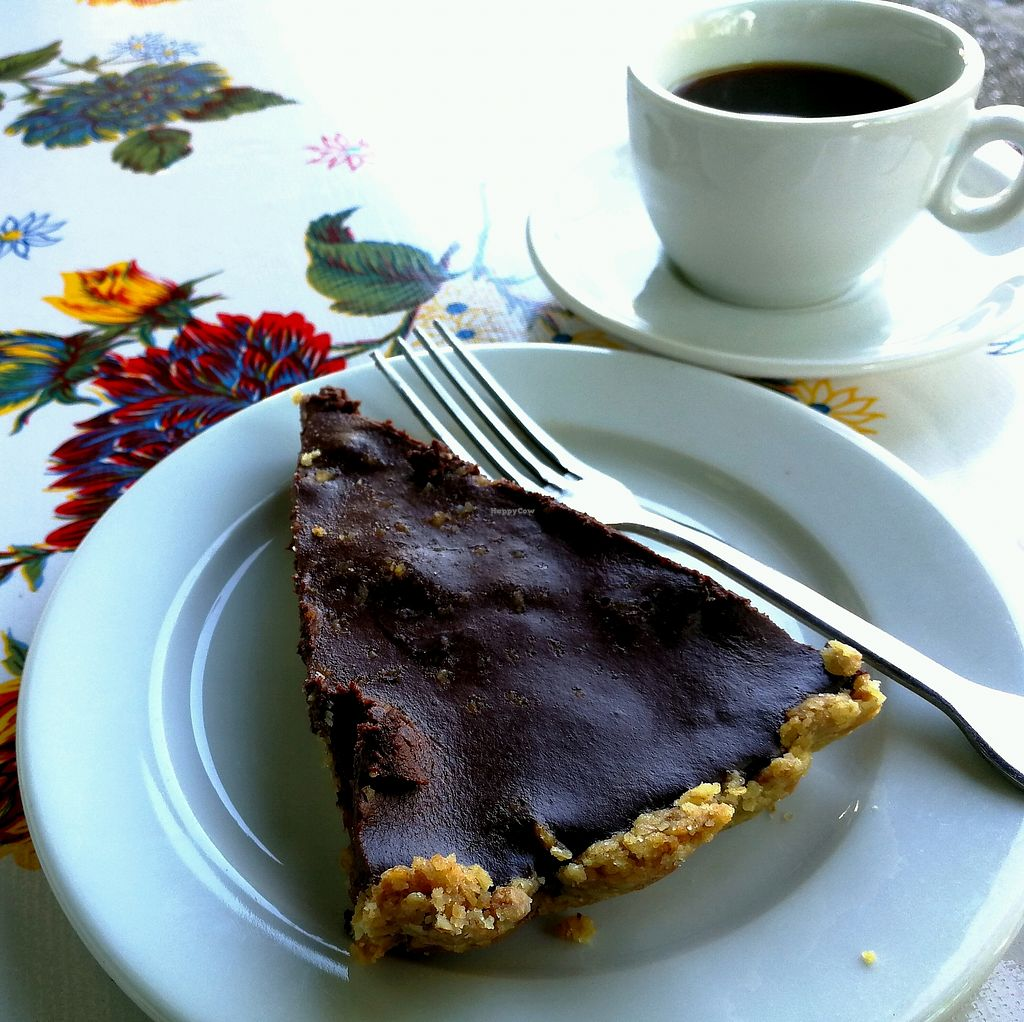 """Photo of L' Ecomotive  by <a href=""""/members/profile/CaroD"""">CaroD</a> <br/>Vegan chocolate and hazelnut tart  <br/> April 25, 2018  - <a href='/contact/abuse/image/38263/390896'>Report</a>"""
