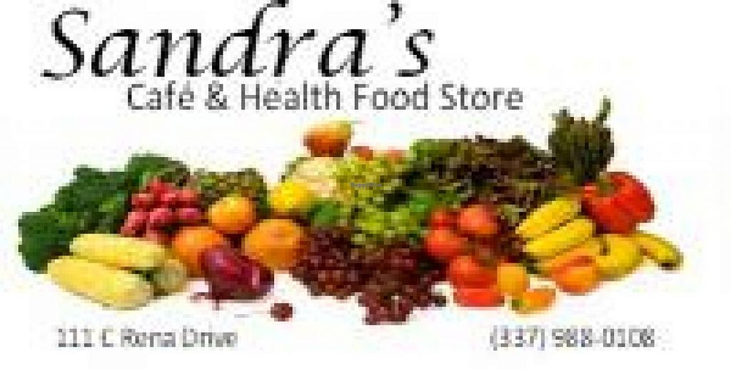 """Photo of Sandra's Cafe and Health Food Store  by <a href=""""/members/profile/TuttiFrutti111"""">TuttiFrutti111</a> <br/>Sandra's Logo <br/> April 1, 2015  - <a href='/contact/abuse/image/38271/97542'>Report</a>"""