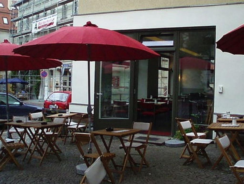 """Photo of Wonnemond und Sterne  by <a href=""""/members/profile/Pamina"""">Pamina</a> <br/>Outside seating area of 'Wonnemond und Sterne' in Halle <br/> April 16, 2014  - <a href='/contact/abuse/image/38273/67736'>Report</a>"""