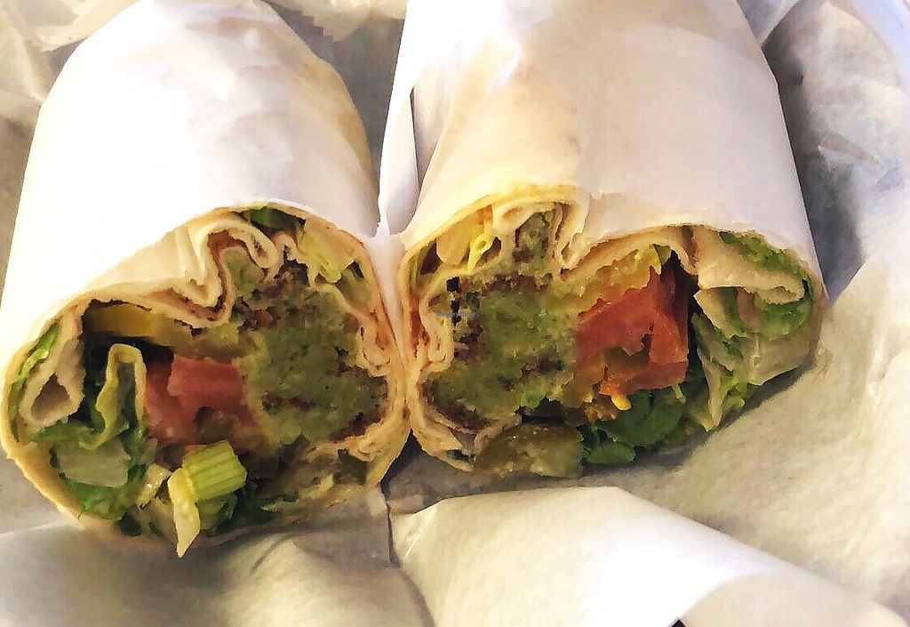 """Photo of The Falafel Queen  by <a href=""""/members/profile/Livjai"""">Livjai</a> <br/>Spicy Falafel Wrap  <br/> April 12, 2018  - <a href='/contact/abuse/image/38280/384702'>Report</a>"""