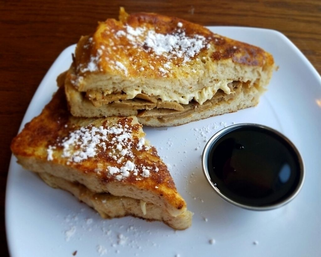 "Photo of The Angry Baker - Olde Towne East  by <a href=""/members/profile/Silly%20Little%20Vegan"">Silly Little Vegan</a> <br/>Vegan French toast sandwich  <br/> November 4, 2016  - <a href='/contact/abuse/image/38318/216797'>Report</a>"