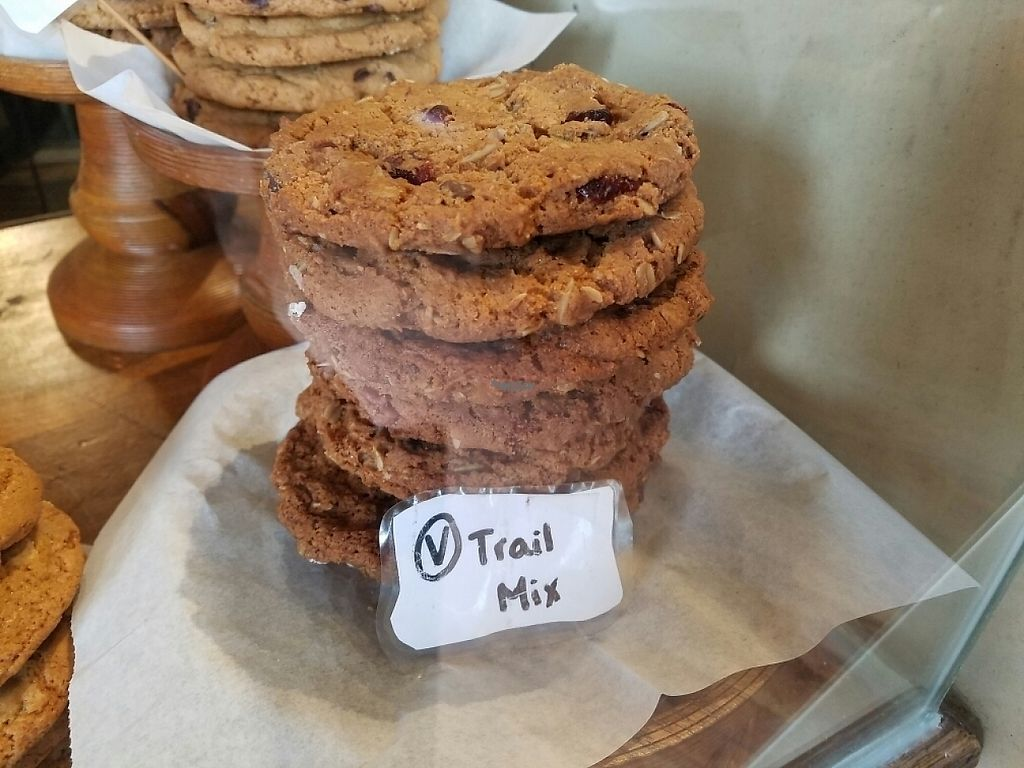 "Photo of The Angry Baker - Olde Towne East  by <a href=""/members/profile/Silly%20Little%20Vegan"">Silly Little Vegan</a> <br/>Vegan Trail Mix Cookies <br/> February 17, 2017  - <a href='/contact/abuse/image/38318/227475'>Report</a>"