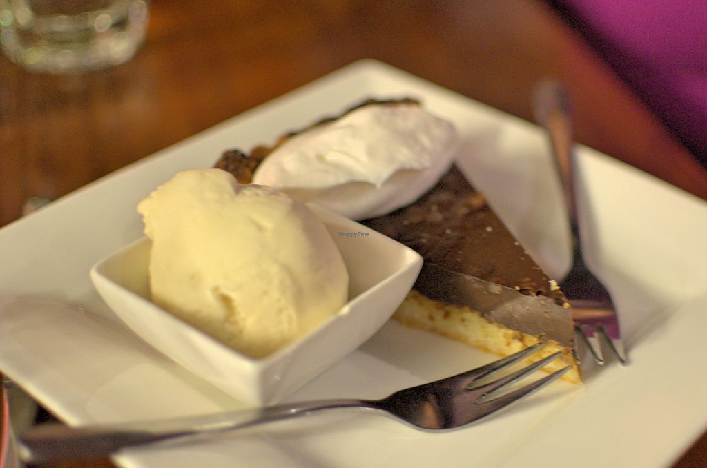"""Photo of Cornish Arms  by <a href=""""/members/profile/chocoholicPhilosophe"""">chocoholicPhilosophe</a> <br/>Chocolate macadamia tart <br/> August 15, 2015  - <a href='/contact/abuse/image/38323/113740'>Report</a>"""