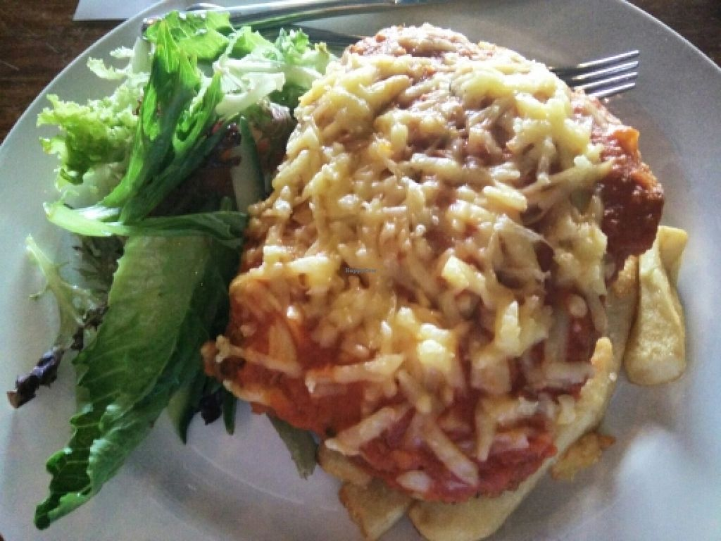 """Photo of Cornish Arms  by <a href=""""/members/profile/Kimma"""">Kimma</a> <br/>Standard Vegan Parma <br/> December 18, 2015  - <a href='/contact/abuse/image/38323/129002'>Report</a>"""