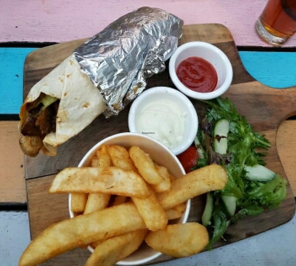 """Photo of Cornish Arms  by <a href=""""/members/profile/Ambershade"""">Ambershade</a> <br/>vegan souvlaki <br/> March 30, 2016  - <a href='/contact/abuse/image/38323/256073'>Report</a>"""