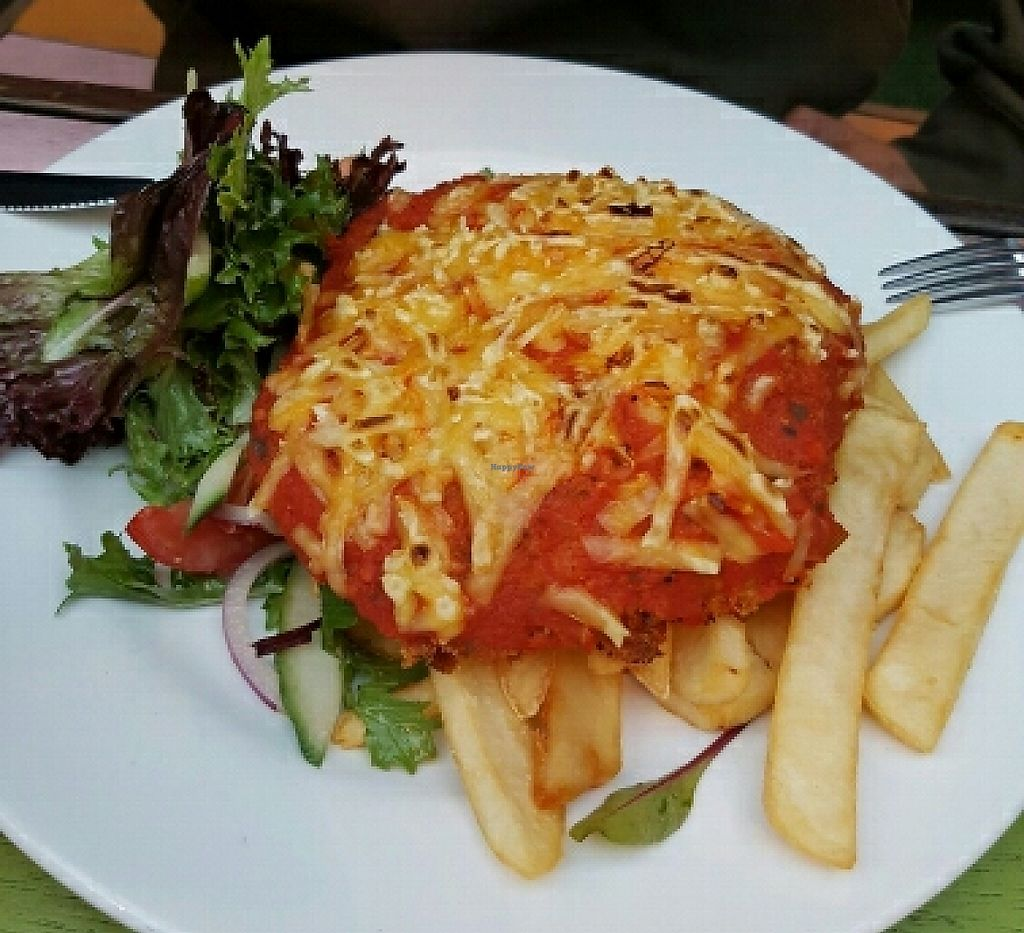 """Photo of Cornish Arms  by <a href=""""/members/profile/Ambershade"""">Ambershade</a> <br/>vegan parma <br/> March 30, 2016  - <a href='/contact/abuse/image/38323/256075'>Report</a>"""