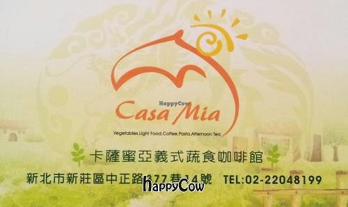 """Photo of Casa Mia Cafe  by <a href=""""/members/profile/stanchang"""">stanchang</a> <br/>Business card <br/> May 4, 2013  - <a href='/contact/abuse/image/38328/47780'>Report</a>"""