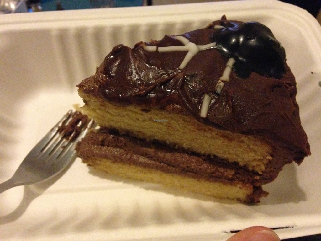 """Photo of Samphire Brasserie  by <a href=""""/members/profile/Ffion89"""">Ffion89</a> <br/>Vegan chocolate orange cake <br/> October 27, 2015  - <a href='/contact/abuse/image/38330/122911'>Report</a>"""