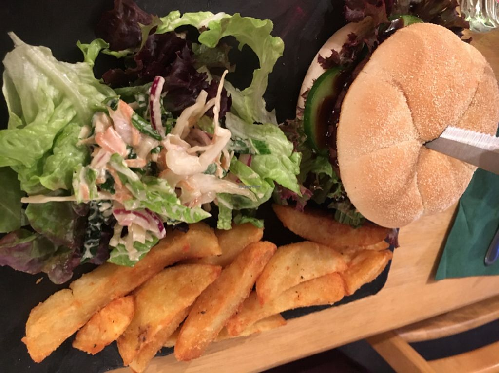 """Photo of Samphire Brasserie  by <a href=""""/members/profile/hack_man"""">hack_man</a> <br/>'Chinese Takeaway' burger  <br/> May 6, 2016  - <a href='/contact/abuse/image/38330/147751'>Report</a>"""