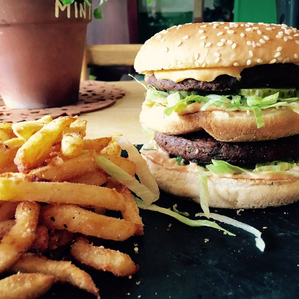 """Photo of Samphire Brasserie  by <a href=""""/members/profile/Nickysr"""">Nickysr</a> <br/>The huge Bigger Moc with fries <br/> June 11, 2016  - <a href='/contact/abuse/image/38330/153518'>Report</a>"""