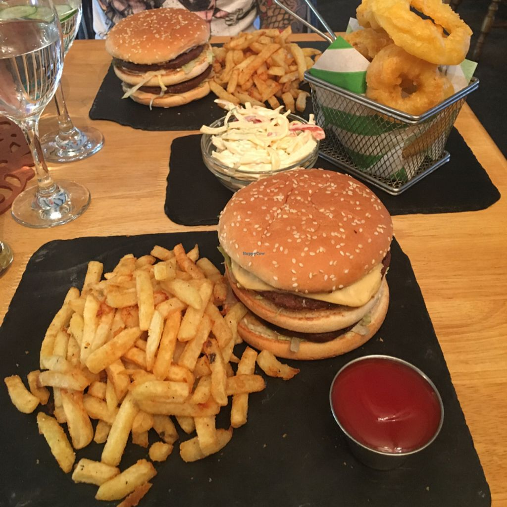 """Photo of Samphire Brasserie  by <a href=""""/members/profile/KatieBater"""">KatieBater</a> <br/>2 Bigger Mocs, coleslaw and onion rings  <br/> July 2, 2016  - <a href='/contact/abuse/image/38330/157382'>Report</a>"""