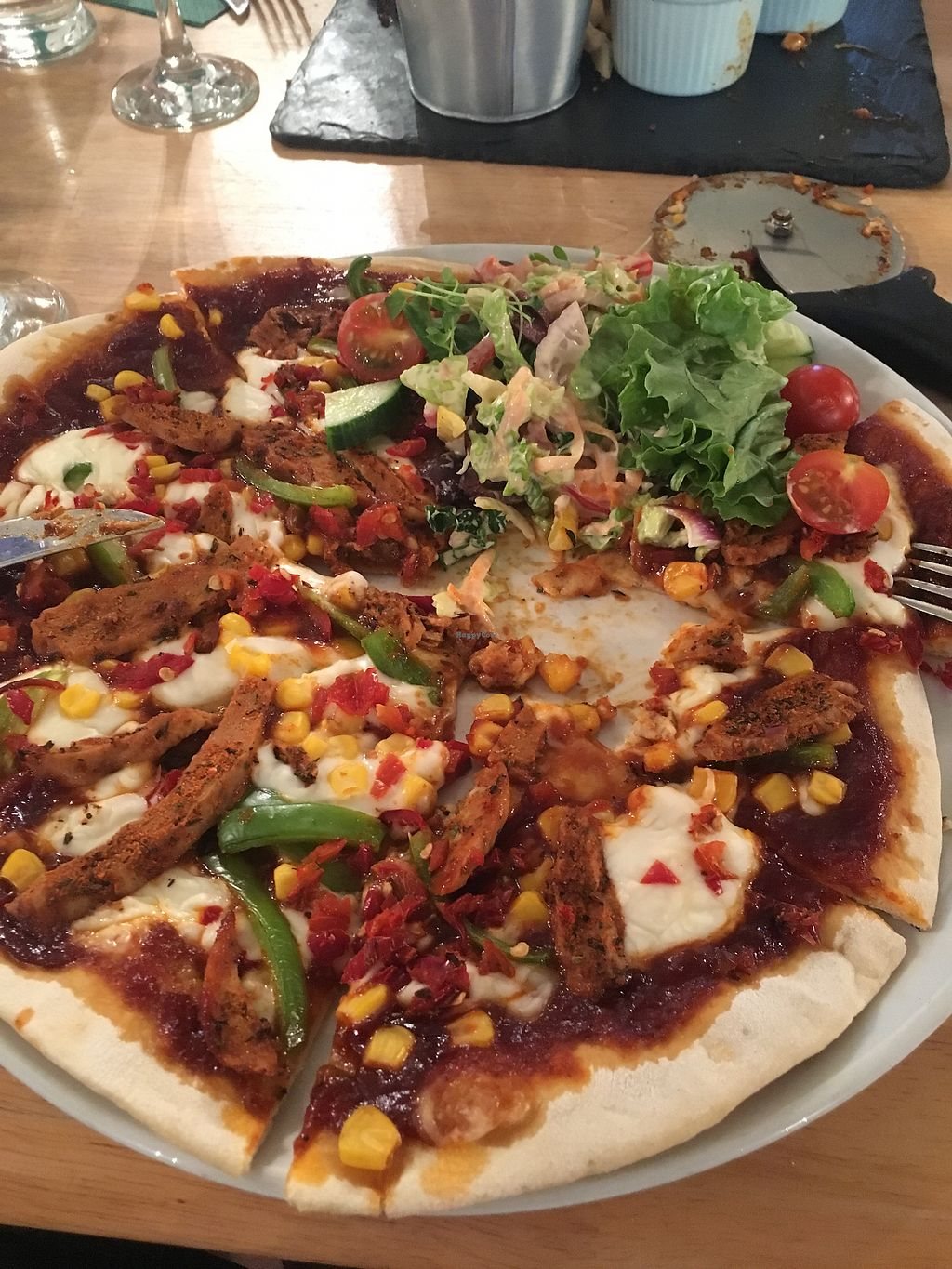 """Photo of Samphire Brasserie  by <a href=""""/members/profile/hack_man"""">hack_man</a> <br/>pizza - taken in a rush by my SW England contact Mr P <br/> July 14, 2017  - <a href='/contact/abuse/image/38330/280364'>Report</a>"""