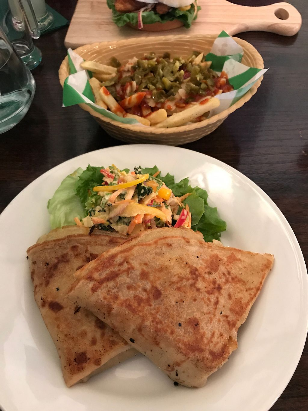 """Photo of Samphire Brasserie  by <a href=""""/members/profile/Weds"""">Weds</a> <br/>pulled jackfruit crepes <br/> September 2, 2017  - <a href='/contact/abuse/image/38330/299921'>Report</a>"""