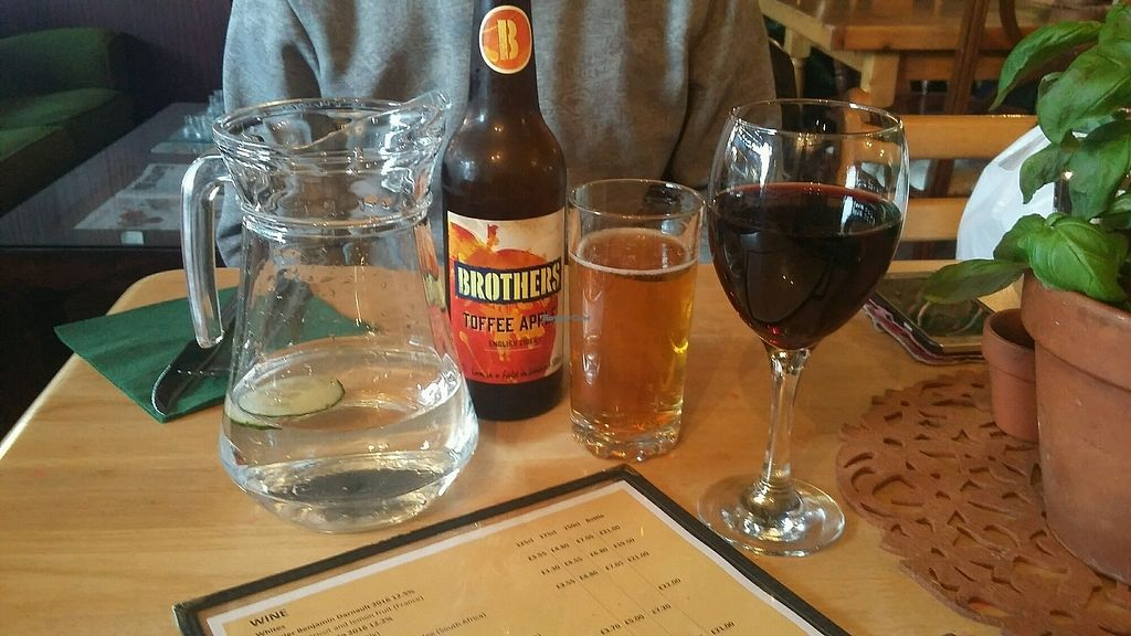 """Photo of Samphire Brasserie  by <a href=""""/members/profile/Vegan-Vinyl-Avengers"""">Vegan-Vinyl-Avengers</a> <br/>Samphire now sells alcohol!  <br/> November 24, 2017  - <a href='/contact/abuse/image/38330/328727'>Report</a>"""