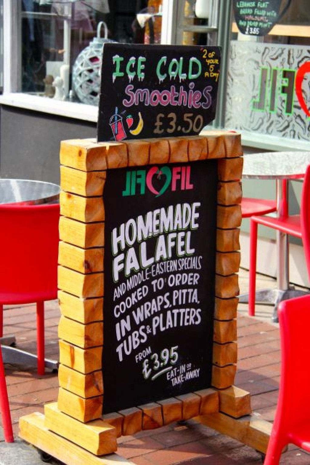 """Photo of FilFil  by <a href=""""/members/profile/trinitybourne"""">trinitybourne</a> <br/>Bright board outside of Fil Fil in Brighton <br/> September 24, 2014  - <a href='/contact/abuse/image/38374/80931'>Report</a>"""