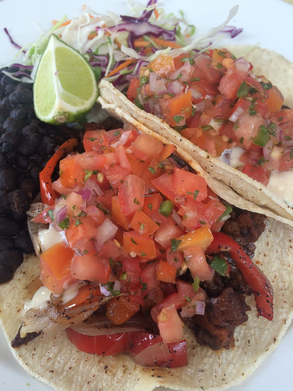 Photo of Bread and Chocolate Vegan Bistro  by VeganOvi <br/>Tacos! <br/> October 6, 2015  - <a href='/contact/abuse/image/38386/120437'>Report</a>