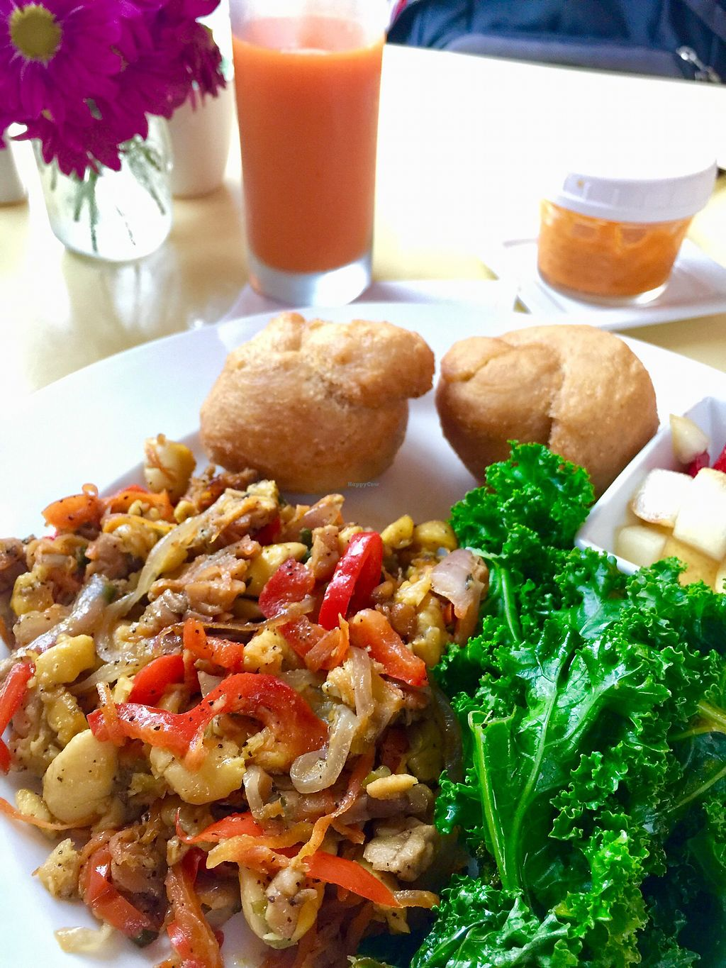 """Photo of Bread and Chocolate Vegan Bistro  by <a href=""""/members/profile/Wgoers"""">Wgoers</a> <br/>Achee scramble is unique and very tasty <br/> October 21, 2017  - <a href='/contact/abuse/image/38386/317308'>Report</a>"""