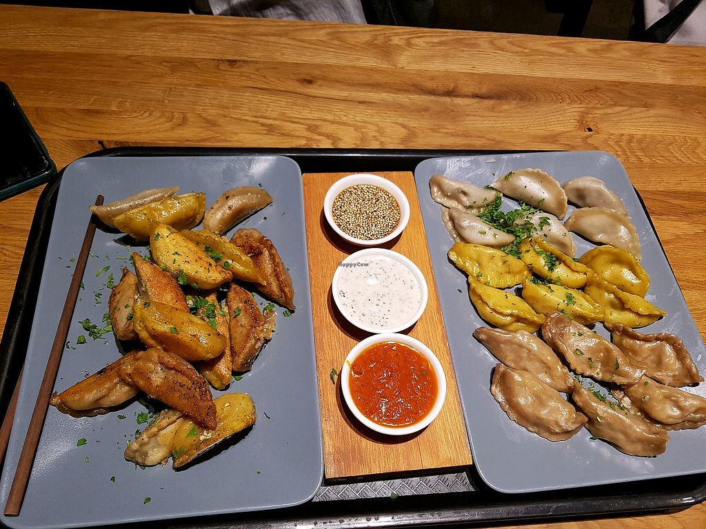 """Photo of Momos  by <a href=""""/members/profile/Animotek78"""">Animotek78</a> <br/>the 20 Euro vegan  menu  <br/> May 4, 2018  - <a href='/contact/abuse/image/38433/395092'>Report</a>"""