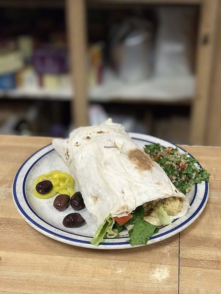 """Photo of Amy's Place  by <a href=""""/members/profile/nlevine94"""">nlevine94</a> <br/>Mini Hummus Wrap. Honestly an okay wrap, something I could make at home <br/> November 2, 2017  - <a href='/contact/abuse/image/3845/321270'>Report</a>"""