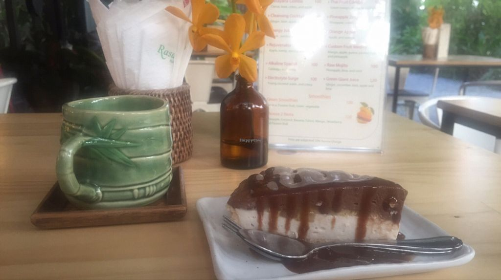 """Photo of Rasayana Raw Food Cafe  by <a href=""""/members/profile/Nirankarkaur"""">Nirankarkaur</a> <br/>I'm so in love with this raw cacao cake  <br/> February 1, 2016  - <a href='/contact/abuse/image/3847/134529'>Report</a>"""