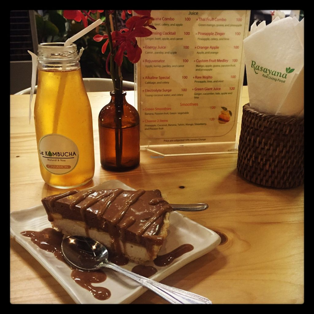 """Photo of Rasayana Raw Food Cafe  by <a href=""""/members/profile/Nirankarkaur"""">Nirankarkaur</a> <br/>raw chocolate mousse cake <br/> February 21, 2016  - <a href='/contact/abuse/image/3847/137169'>Report</a>"""