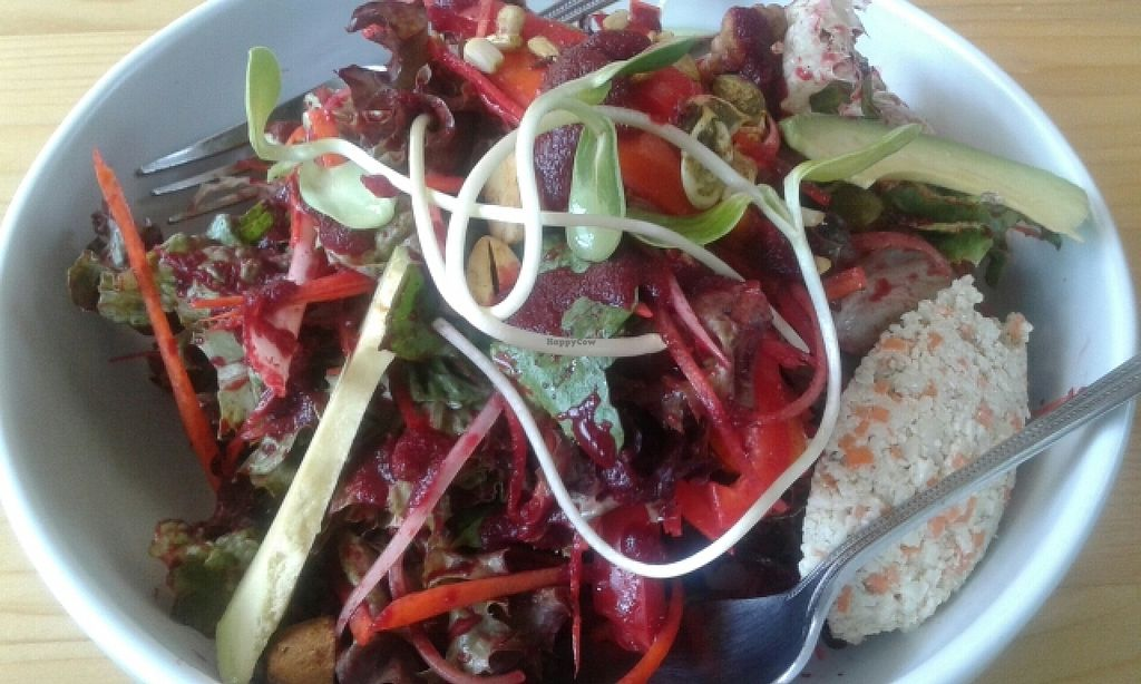 """Photo of Rasayana Raw Food Cafe  by <a href=""""/members/profile/VeganCrush"""">VeganCrush</a> <br/>rasayana salad <br/> June 19, 2016  - <a href='/contact/abuse/image/3847/154816'>Report</a>"""